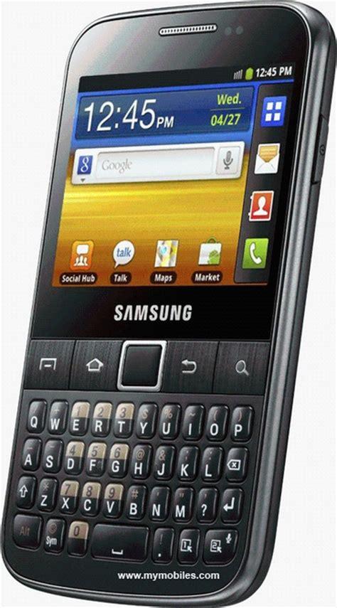 Y Samsung Galaxy Samsung Galaxy Y Pro B5510