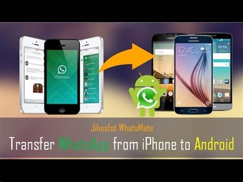 how to transfer whatsapp from android to iphone how to transfer whatsapp data from iphone to android