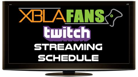 Twitch Giveaway Rules - xblafans twitch schedule week of 10 13 xblafans