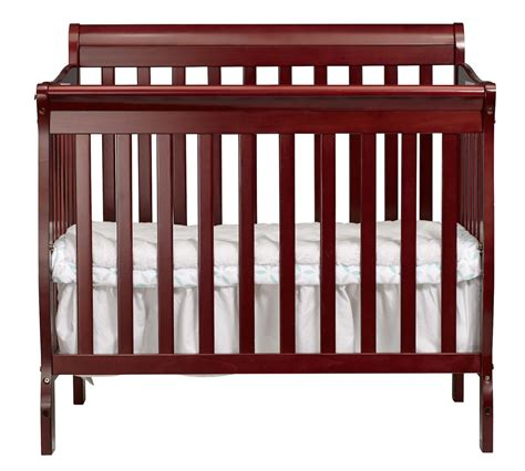 How Big Is A Mini Crib Big Oshi 3 In 1 Mini Convertible Crib In Cherry