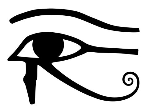 eye of horus coloring page eye of horus wadjet egyptian symbol meaning