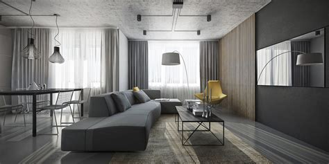 grey home interiors dark themed interiors using grey effectively for interior