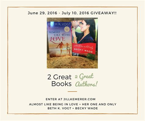 Books Giveaway - 2 great books giveaway week 1 her one and only jill kemerer christian author