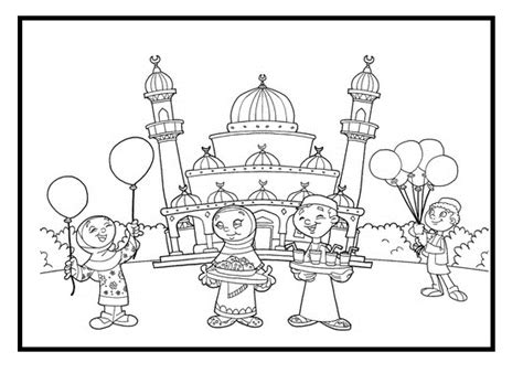 eid card templates to colour ramadan card coloring coloring pages