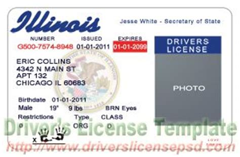 illinois id card template drivers license drivers license drivers license