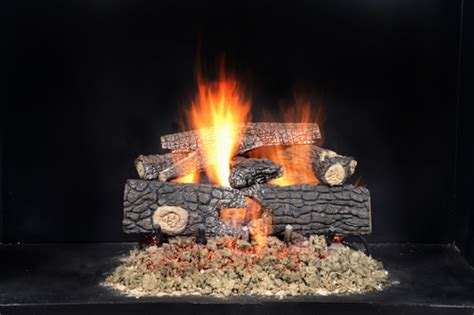 Perfection Fireplace by Match Lit Logs