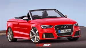 audi rs3 sedan 3 door and cabriolet imagined which one