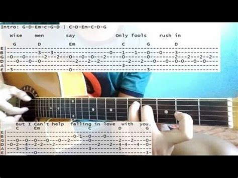tutorial guitar elvis presley can t help falling in love with you tabs tutorial