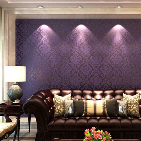 Purple Wallpaper Living Room by Purple Wallpaper Living Room Gallery