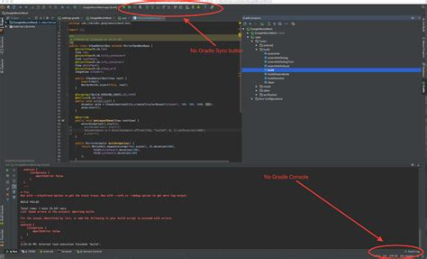 android gradle android gradle console missing from intellij idea stack overflow