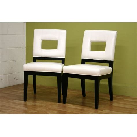 baxton studio faustino white faux leather upholstered dining chairs set   pc  hd