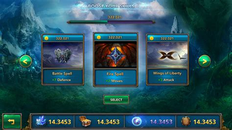 game ui layout fantasy mobile game ui template on behance
