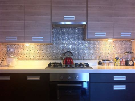 Kitchen Mosaic by Modern Classic Kitchen With Mosaic Tiles Modern Kitchen Other Metro