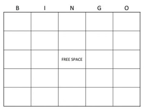 microsoft word bingo card template bingo card template word templates