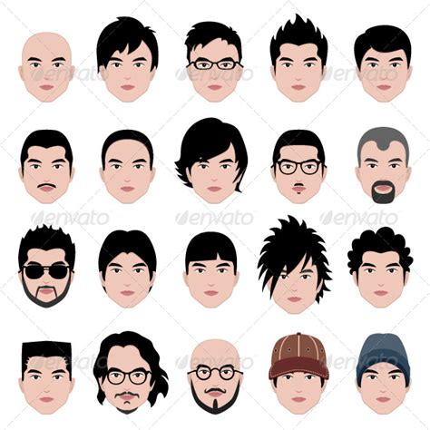 hairstyles cartoon characters male man hair hairstyle by leremy graphicriver