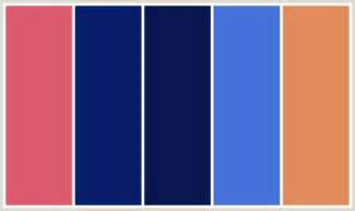 what color goes with royal blue colorcombo298 with hex colors db5a6e 071d69 0a1650