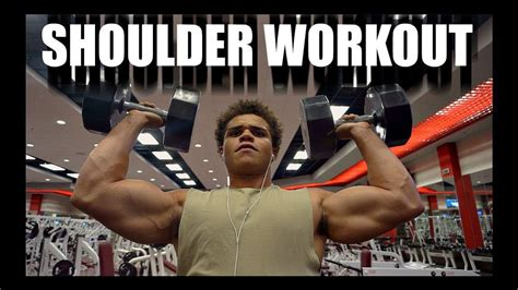 shoulder day workout  ifbb pro uzoma obilor doovi