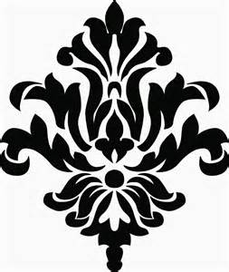 Medieval Wall Murals damask vinyl decal
