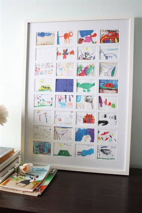 how to display kids art without making it bothersome a diy collage to display kid s artwork and how i saved