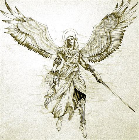 angel tattoo prints avenging angel tattoo design by minkewhale on deviantart