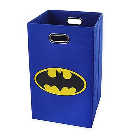 batman laundry buy modern littles batman logo folding laundry basket in blue from bed bath beyond