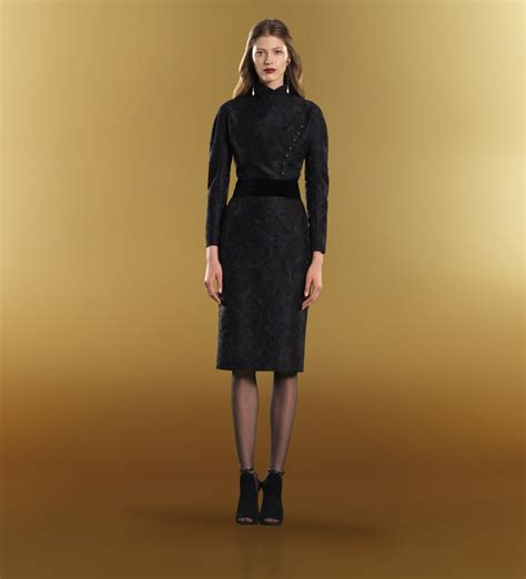Longdress Gucci With Label gucci asymmetric button sleeve dress in black lyst