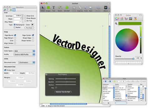 free vector drawing program vectordesigner for mac