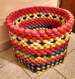 reciclaje de poma tapas de plastico made with imagination pinterest