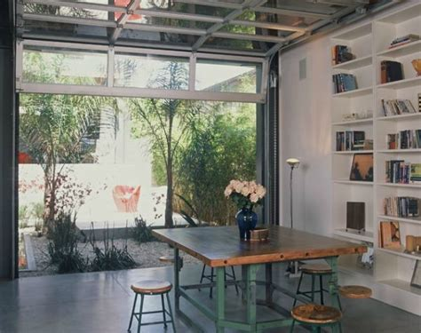 indoor outdoor space creating an indoor outdoor space with a garage door
