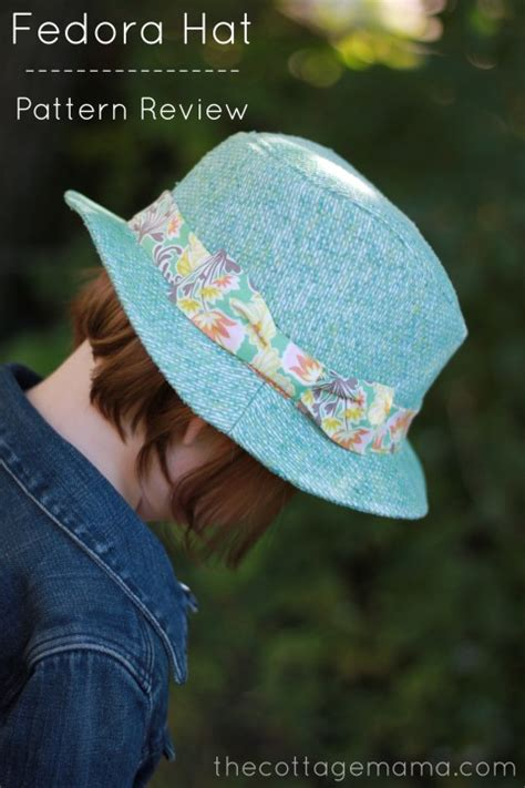 x pattern review kids fedora hat sewing pattern review the cottage mama