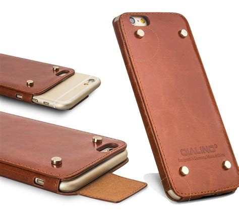 Dicodes Leather Cover No 6 qialino top quality ultra thin real leather for iphone 6 plus back cover newest style 4 7