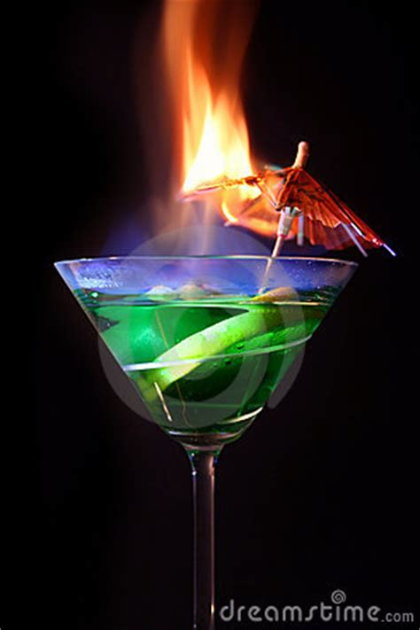 martini flaming flaming cocktail royalty free stock image image 9354586