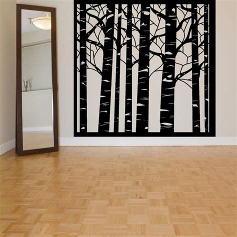 vinyl wall decal forest tree tree vinyl wall decal birch tree wood forest large mural wall sticker tree wall sticker