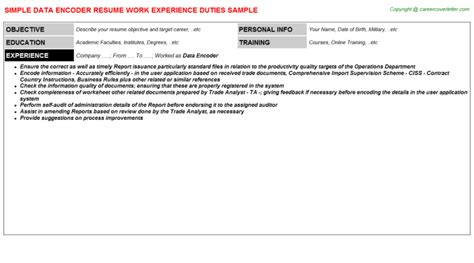 Library Clerk Resume Exles by Application Letter For Data Encoder 28 Images Tree