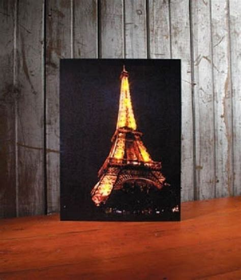 eiffel tower wall decor eiffel tower lighted canvas wall decor sign