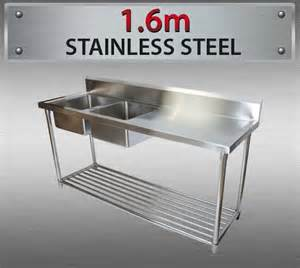 stainless steel left sink bench for commercial