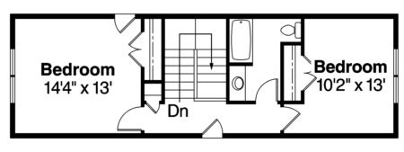 plan 035 00427 2 bedroom 2 5 bath log home plan bungalow plan 2 243 square feet 3 bedrooms 2 5