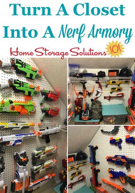 nerf storage organization ideas  blasters accessories