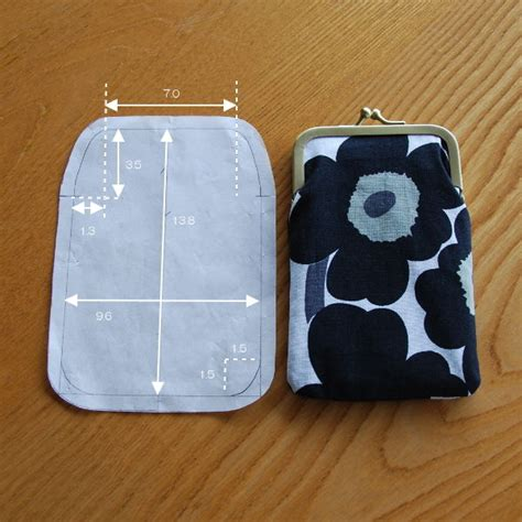 frame wallet pattern cute coin purse sewing pattern sewing knitting