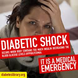 symptoms  diabetic shock diabetes library