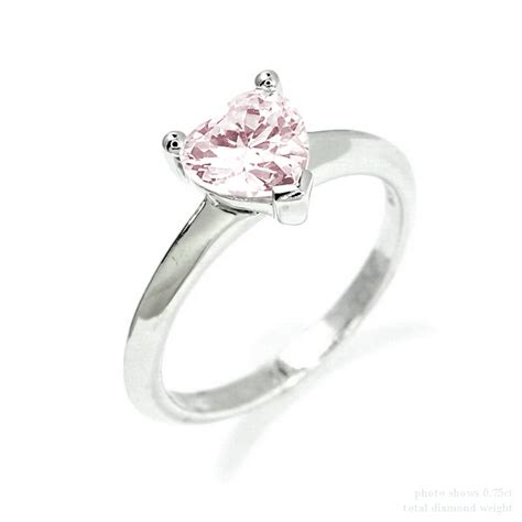pink flower engagement ring