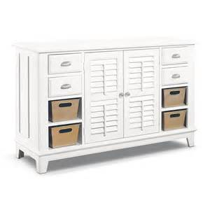 plantation cove white console table value city furniture