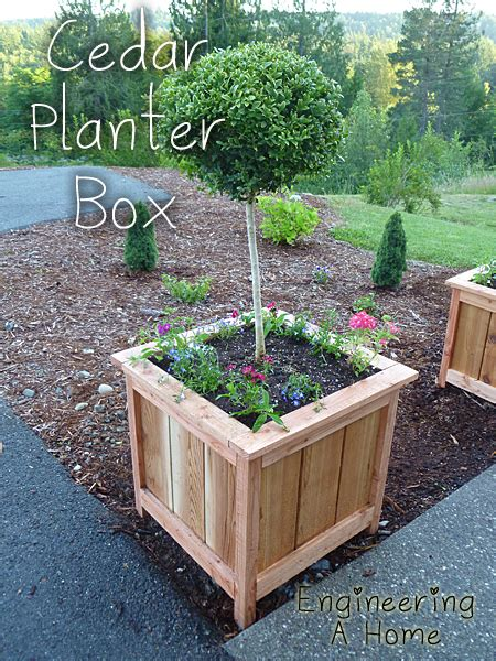 planter box diy pretty front porch diy large cedar planter boxes engineering a home