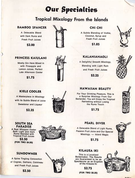 menu design los angeles hawaiian kitchen 4574 w beverly blvd los angeles ca