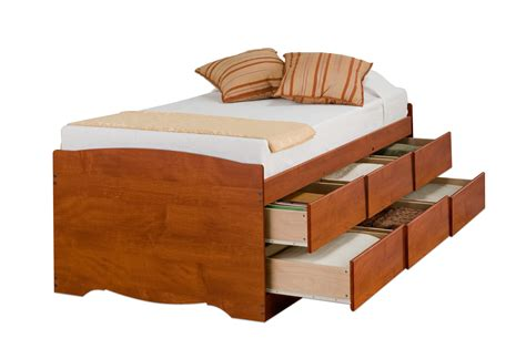 Captain Beds With Drawers by Prepac Captain S Platform Storage Bed With 6 Drawers