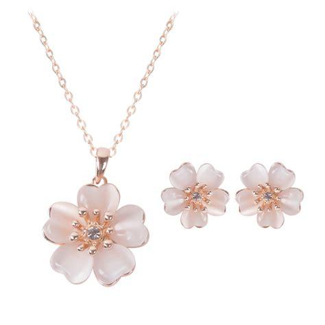 Jewelry Set Gold Plate Austrian Enamel Flower 8892 best seller jewelry sets gold plated austrian enamel earring necklace flower