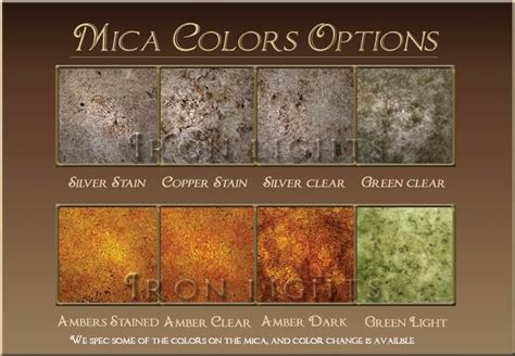 Efficient Home iron lighting mica color selection
