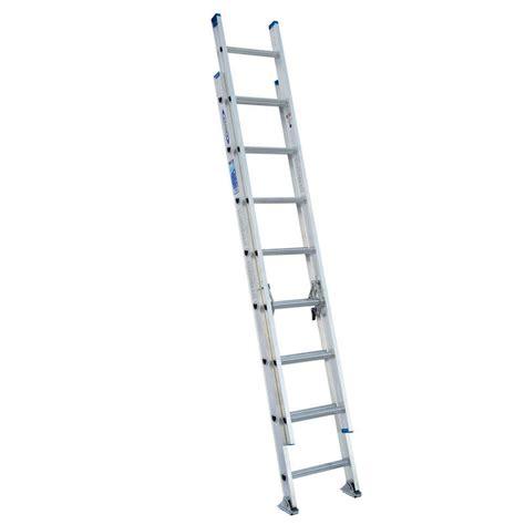 werner 16 ft aluminum extension ladder with 225 lb load