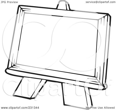 art easel coloring page royalty free rf clipart illustration of a coloring page