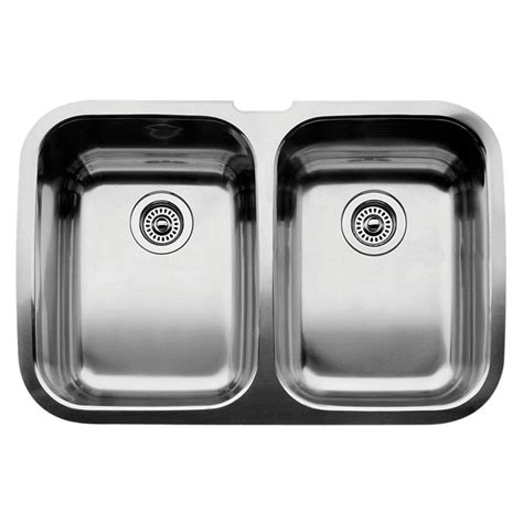 rustic kitchen set with double bowls stainless steel kitchen sink blanco supreme undermount stainless steel 32 in equal